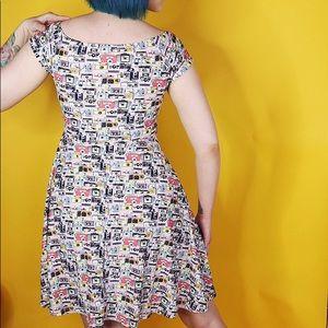 red dolly Dresses - Camera Print Skater Dress